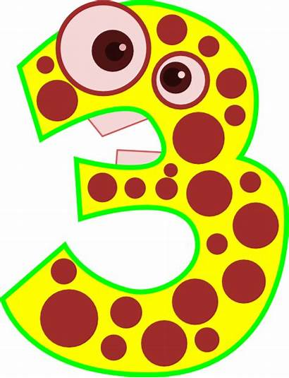 Number Animal Clip Clipart Three Edited Cliparts