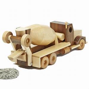 Construction-Grade Concrete Truck Woodworking Plan from