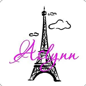 eiffel tower  personalized  wall decal art