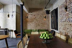 Decoration Industrielle Vintage : resto murs briques ambiance industrielle pinterest industriel bar et la deco ~ Teatrodelosmanantiales.com Idées de Décoration