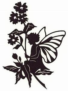 fairy silhouette With fairy cut out template