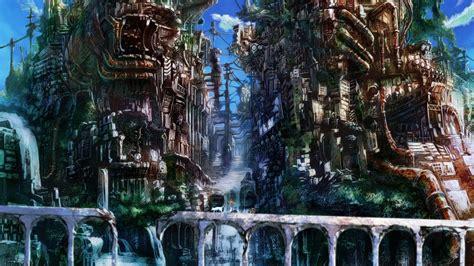 Anime City Wallpaper - anime city background 183 free amazing backgrounds