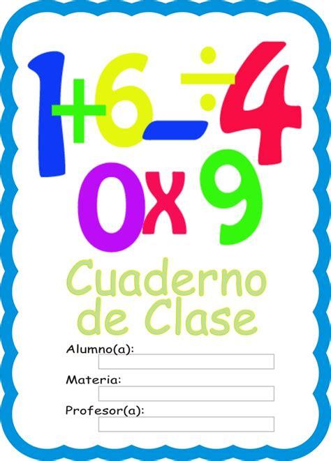 caratulas  cuadernos numeros en operaciones matematicas