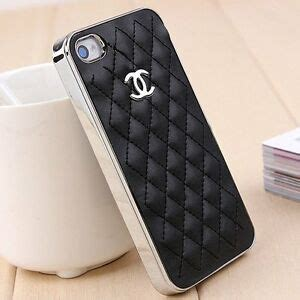 fashion leather black chanel case cover apple