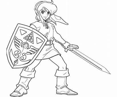 Coloring Zelda Link Printable Smash Bros Ausmalbilder