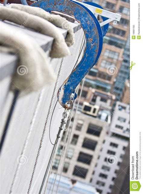 suspended scaffold rigging stock photo image  hook