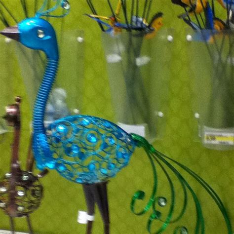 metal peacock yard decor from target outdoors flowers