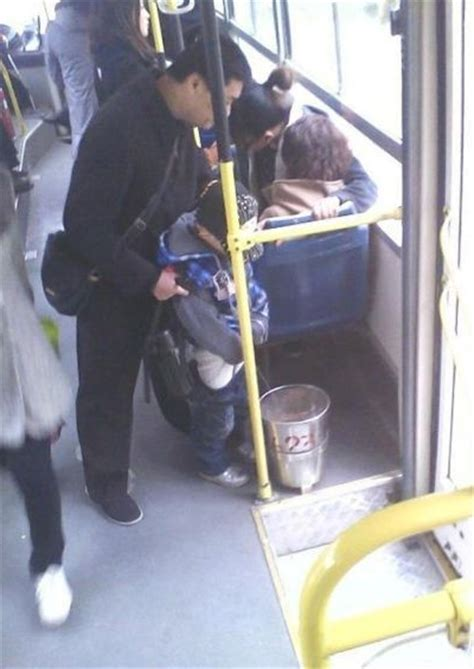 pee bucket   local bus funny faxo