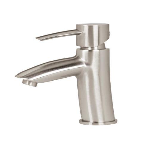 vigo single hole single handle bathroom faucet in brushed