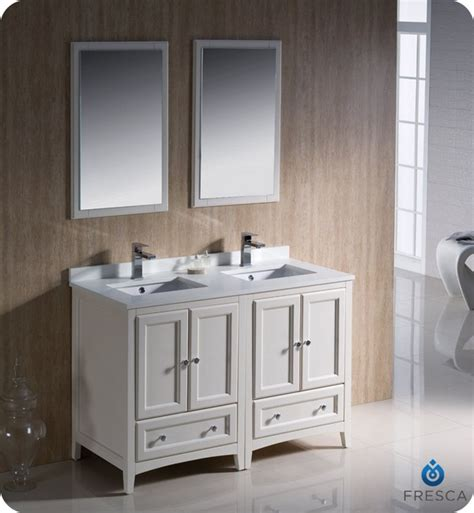 48 inch double sink vanity fresca fvn20 2424aw oxford 48 inch antique white