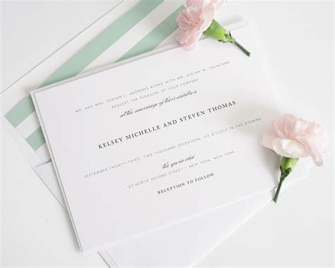 Classic Wedding Invitations in Soft Jade Wedding Invitations