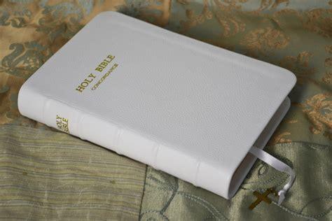 Cowhide Bible by White Pebble Grain Cowhide Bible Leonard S Book Restoration