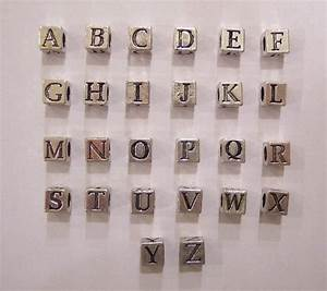 beads alphabet sterling silver 55mm1 piece cube With sterling silver alphabet letter beads