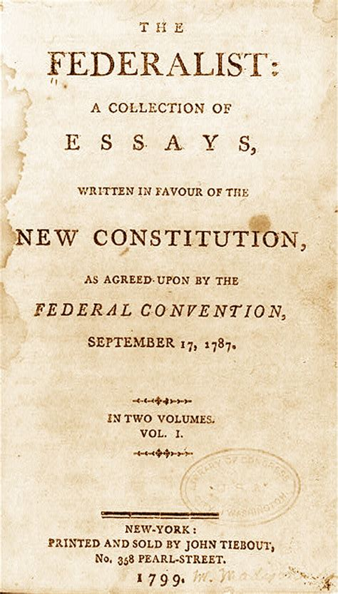 The federalist papers were written