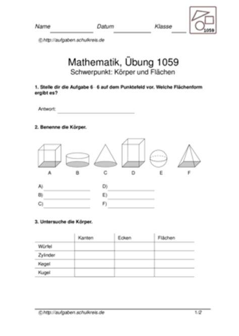 klassenarbeiten zum thema geometrische flaechen