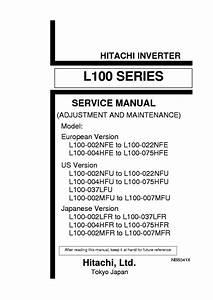 Hitachi Inverter L100 Series Service Manual Download