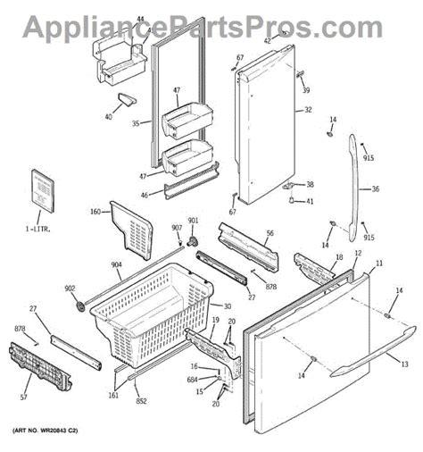 parts  ge pfssrkzcss doors bins parts appliancepartsproscom