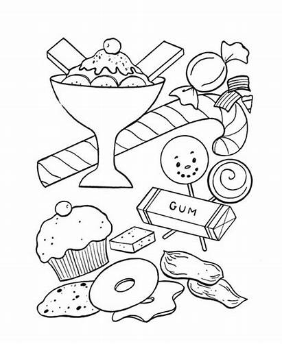 Candy Pages Ice Cream Printable Goodies Coloring