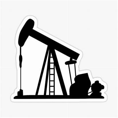 Pump Stickers Oil Gas Jack Redbubble Crane