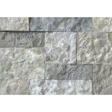 Square White Marble Veneer Concrete Shop Airstone 8 Sq Ft Creek Primary Wall Faux