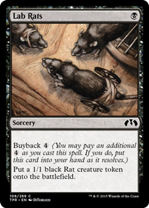 Mtg Rat Deck 2015 by Lab Rats From Tempest Remastered Spoiler