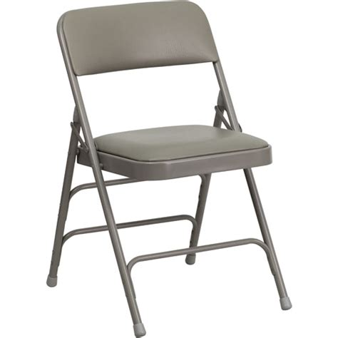 Padded Metal Folding Chairs Walmart by Hercules Hinged Vinyl Padded Folding Chair 4 Pack Gray