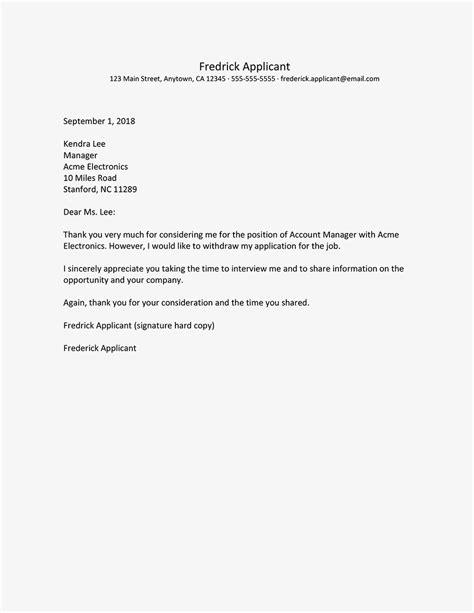 rescinding an accepted job offer sample letter