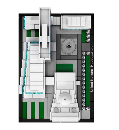siege galerie lafayette lego 21018 architecture siège des nations unies lego