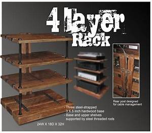 Wooden Audio Rack Woodworking smokehouse plans pdf Home