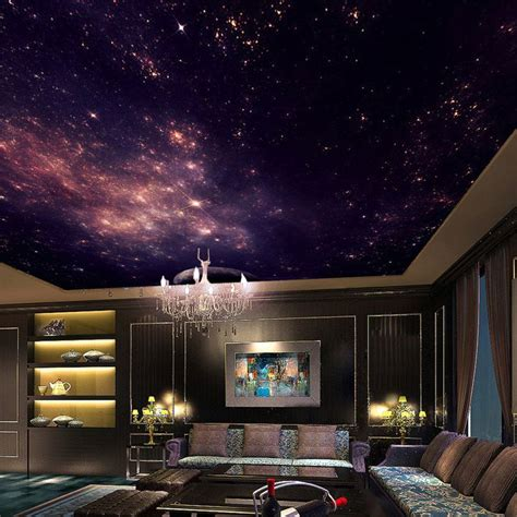 custom murals  star nebula night sky wall painting