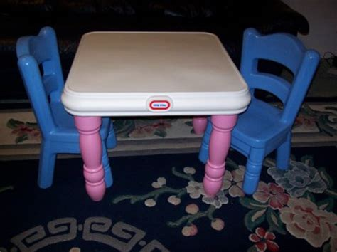 little tikes victorian table chair set pink blue tykes vgc