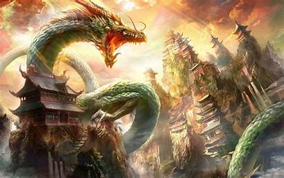 Dragon Eastern Background Wallpapers Wallpaperaccess Backgrounds Oriental