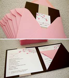 custom wedding invitation square pocket folder With wedding invitations folders diy