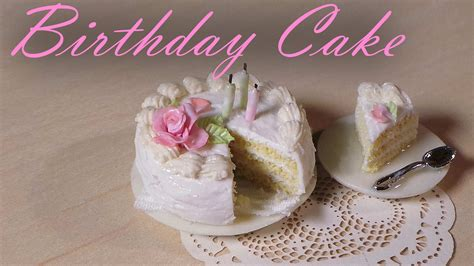 simple miniature birthday cake polymer clay tutorial