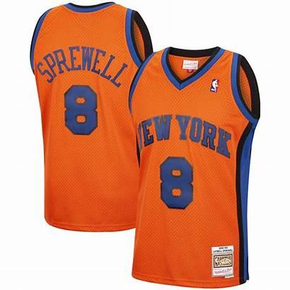 Knicks Jersey York Sprewell Mitchell Ness Latrell