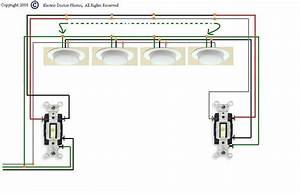 Diagram For Wiring 4 Fluorescent Lights Between Two 3way
