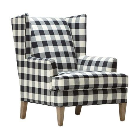 black white buffalo check ethan quot quot chair by