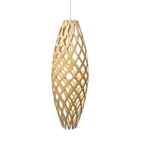 the hinaki l is a wooden pendant made of colored