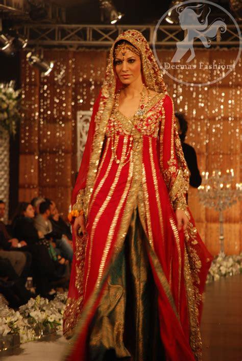 shocking pink bridal wear anarkali pishwas dress latest