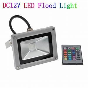 Dc v w led floodlight outdoor spotlight