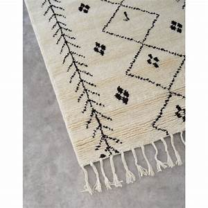 Tapis marocain style berbere 100 laine carry patta for Tapis berbere avec console de canapé