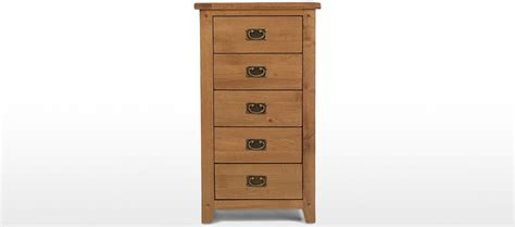Rustic Oak 5 Drawer Tall Chest Of Drawers Till Drawer Side Drawers Building Wine Security Signs Paint Dresser