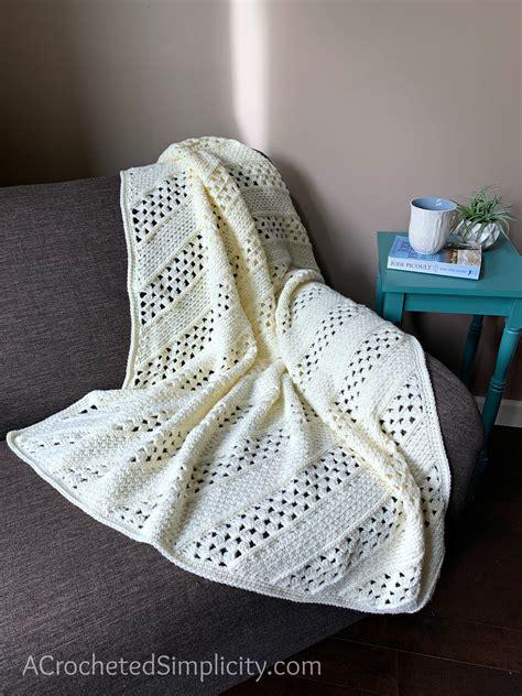 bias square afghan  crochet blanket pattern