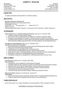 nursing student resume for internship college student resume sle learnhowtoloseweight net