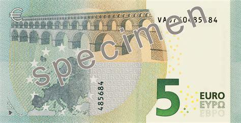 Video Découvrez Le Nouveau Design Du Billet De 5 Euros