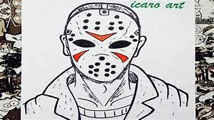 Como dibujar a jason how to draw jason terror YouTube