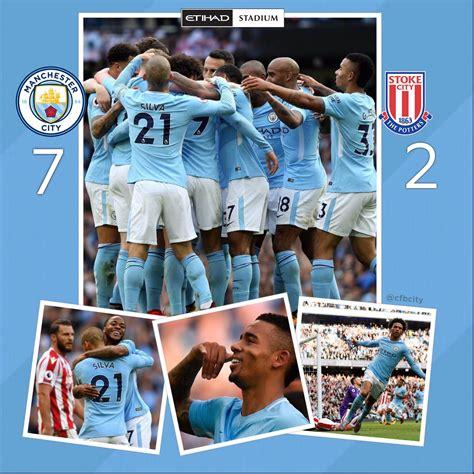 City 7 Stoke 2 Etihad Stadium Manchester 14/10/17 #mcfc # ...