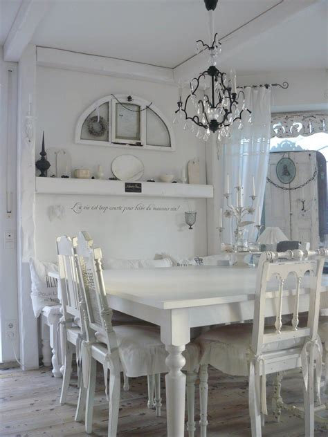 Esszimmer Le Shabby Chic by Dining Room White Grey Black Chippy Shabby Chic
