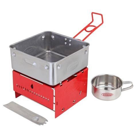 sterno candle l butane stove sterno candlel c stove kit with frame and wind