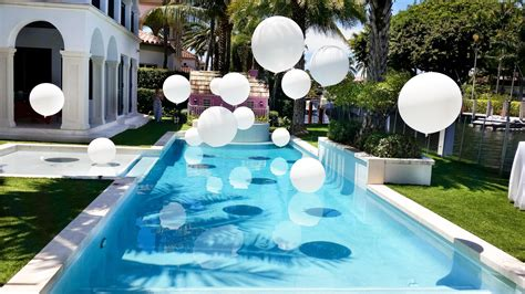 Pool Decoration by Swimming Pool Balloon Decorations Balloondecoration